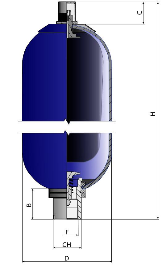 Гидроаккумулятор разрез
